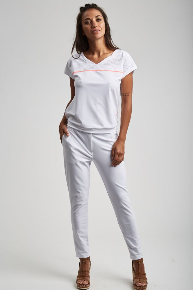 ESSENTIELS - CHRISTINA pantalon Blanc